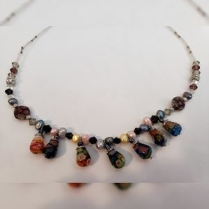 Boho Style Multi Color Beaded Adjustable Necklace